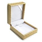 Bizhuteri lëkure Set Box, lëkurë saten, Drejtkëndësh, ar, 90x80x40mm, 10PC/Shumë,  Shumë