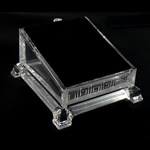 Moda bizhuteri Display, Glass Organike, Drejtkëndësh, asnjë, i tejdukshëm, qartë, 105x95x60mm, 10PC/Shumë,  Shumë