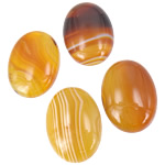 Agat Cabochon, Agat Kafe, Oval, natyror, shirit, 13x18mm, 50PC/Qese,  Qese