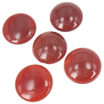 Agat Cabochon, Red agat, Round Flat, 25x25mm, 20PC/Qese,  Qese