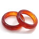 Agat unazë gishti, Red agat, Shape Tjera, asnjë, makinë faceted, 5.5mm, 19mm, :9, 10PC/Qese,  Qese