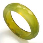 Agat unazë gishti, Jeshile agat, Shape Tjera, asnjë, makinë faceted, 5.5mm, 18mm, :8, 10PC/Qese,  Qese