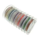 Kupferdraht, Messing, mit Kunststoffspule, gemischte Farben, frei von Nickel, Blei & Kadmium, 0.30mm, 10PCs/Menge, 10m/PC, verkauft von Menge