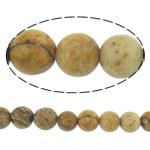 Picture Beads Jasper, Picture Jasper, Round, natyror, 4mm, : 16Inç, 10Fillesat/Shumë,  Shumë