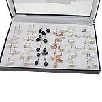 Një palë vathë Pearl ujërave të ëmbla, Pearl kulturuar ujërave të ëmbla, Shape Tjera, asnjë, ngjyra të përziera, 8-9mm, 36Çiftet/Kuti,  Kuti