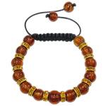 Lampwork Shamballa Bracelets, me diamant i rremë, 10mm, :7.5Inç,  7.5Inç,