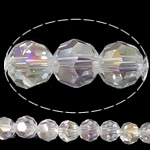 Imitim Swarovski Crystal Beads, Kristal, Round, asnjë, imitim kristal Swarovski & makinë faceted, Kristal, 6x6mm, : 1mm, : 23Inç, 20Fillesat/Shumë,  Shumë