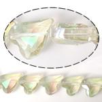 Imitim Swarovski Crystal Beads, Kristal, Zemër, asnjë, imitim kristal Swarovski & makinë faceted, Silver shampanjë, 17x14x8mm, : 1mm, 100PC/Shumë,  Shumë