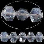 Imitim Swarovski Crystal Beads, Kristal, Gjashtëkëndësh, asnjë, imitim kristal Swarovski & makinë faceted, Kristal, 14x12x10mm, : 1mm, 100PC/Shumë,  Shumë