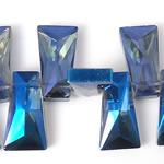 Imitim Swarovski Crystal Beads, Kristal, Trapez, asnjë, imitim kristal Swarovski & makinë faceted, Safir, 20x11x7mm, : 1mm, 100PC/Shumë,  Shumë