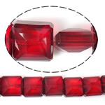 Imitim Swarovski Crystal Beads, Kristal, Katror, asnjë, imitim kristal Swarovski & makinë faceted, Siam, 14x14x8mm, : 1mm, 100PC/Shumë,  Shumë
