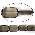 Imitim Swarovski Crystal Beads, Kristal, Drejtkëndësh, asnjë, imitim kristal Swarovski & makinë faceted, Greige, 18x13x7mm, : 1mm, 100PC/Shumë,  Shumë