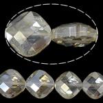 Imitim Swarovski Crystal Beads, Kristal, Katror, asnjë, imitim kristal Swarovski & makinë faceted, Kristal, 15x15x9mm, : 1mm, 100PC/Shumë,  Shumë