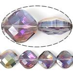 Imitim Swarovski Crystal Beads, Kristal, Katror, asnjë, imitim kristal Swarovski & makinë faceted, 15x15x9mm, : 1mm, 100PC/Shumë,  Shumë