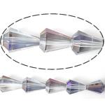 Imitim Swarovski Crystal Beads, Kristal, Lot, asnjë, imitim kristal Swarovski & makinë faceted, asnjë, 13x9mm, : 1mm, 100PC/Shumë,  Shumë