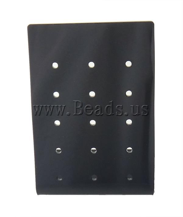 Moda bizhuteri Display, Glass Organike, Drejtkëndësh, asnjë, asnjë, e zezë, 80x118x48mm, 10PC/Shumë,  Shumë