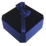 Velveteen byzylyk Box, Katror, blu, 90x90x40mm, 20PC/Shumë,  Shumë