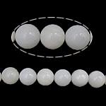 Riesenmuscheln Perlen, Riesenmuschel, rund, synthetisch, transluzent, weiß, 10mm, Bohrung:ca. 1mm, Länge:ca. 16 ZollInch, 10SträngeStrang/Menge, 40PCs/Strang, verkauft von Menge