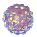 Beads diamant i rremë Rrëshirë, Rrëshirë diamant i rremë, Daulle, asnjë, vjollcë, 14x16mm, : 2.5mm, 100PC/Qese,  Qese