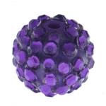 Beads diamant i rremë Rrëshirë, Rrëshirë diamant i rremë, Daulle, asnjë, vjollcë, 14x16mm, : 2mm, 100PC/Qese,  Qese