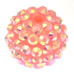 Beads diamant i rremë Rrëshirë, Rrëshirë diamant i rremë, Daulle, asnjë, rozë, 16x18mm, : 3mm, 100PC/Qese,  Qese