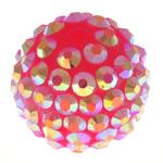 Beads diamant i rremë Rrëshirë, Rrëshirë diamant i rremë, Daulle, asnjë, rozë, 12x14mm, : 3mm, 100PC/Qese,  Qese