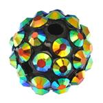 Beads diamant i rremë Rrëshirë, Rrëshirë diamant i rremë, Daulle, asnjë, me diamant i rremë, 10x12mm, : 2mm, 100PC/Qese,  Qese