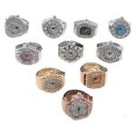 Shikojnë unazë gishti, Alloy zink, 19.8-22x27-28x7.2-9mm, 15mm, :5, 10PC/Shumë,  Shumë