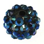 Beads diamant i rremë Rrëshirë, Rrëshirë diamant i rremë, Daulle, asnjë, 12x14mm, : 3mm, 100PC/Qese,  Qese