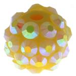 Beads diamant i rremë Rrëshirë, Rrëshirë diamant i rremë, Daulle, asnjë, i verdhë, 10x12mm, : 2mm, 100PC/Qese,  Qese