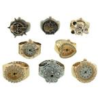 Shikojnë unazë gishti, Alloy zink, i përzier, 21-25x19-26mm,13-15mm, 10PC/Shumë,  Shumë
