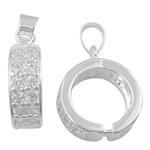 925 Sterling Silver varëse dorëzani, argjend praruar vërtetë, asnjë, asnjë, 13x5mm, : 3.5x5mm, 10PC/Shumë,  Shumë