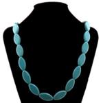 Moda Bruz Gjerdan, Bruz sintetike, Oval, blu, 15x30x7mm, : 36Inç, 5Fillesat/Shumë,  Shumë