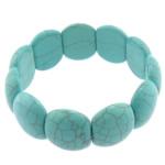 Fashion Bracelets Turquoise, Bruz sintetike, blu, 19x22mm, : 8Inç, 20Fillesat/Shumë,  Shumë