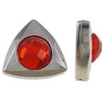 Beads praruar akrilik, Trekëndësh, Ngjyra argjend praruar, me diamant i rremë, asnjë, 15.50x16x6.50mm, : 1.5mm, 100PC/Qese,  Qese
