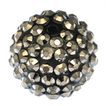 Beads diamant i rremë Rrëshirë, Rrëshirë diamant i rremë, Daulle, asnjë, 18x20mm, : 2mm, 100PC/Qese,  Qese