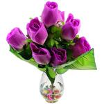 Lule artificiale Kryesore Dekor, Mëndafsh, Shape Tjera, vjollcë, 550x350mm, 10PC/Qese,  Qese