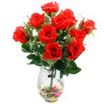 Lule artificiale Kryesore Dekor, Mëndafsh, Shape Tjera, i kuq, 50x47mm, 10PC/Qese,  Qese