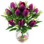 Lule artificiale Kryesore Dekor, Mëndafsh, Shape Tjera, vjollcë, 480x370mm, 10PC/Qese,  Qese