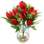 Lule artificiale Kryesore Dekor, Mëndafsh, Shape Tjera, i kuq, 480x370mm, 10PC/Qese,  Qese