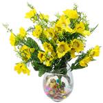 Lule artificiale Kryesore Dekor, Mëndafsh, Shape Tjera, i verdhë, 490x300mm, 10PC/Qese,  Qese