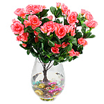 Lule artificiale Kryesore Dekor, Mëndafsh, Shape Tjera, rozë, 380x300mm, 10PC/Qese,  Qese