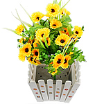 Lule artificiale Kryesore Dekor, Mëndafsh, Shape Tjera, i verdhë, 500x300mm, 10PC/Qese,  Qese