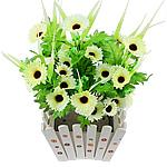 Lule artificiale Kryesore Dekor, Mëndafsh, Shape Tjera, dritë bathë jeshile, 500x300mm, 10PC/Qese,  Qese