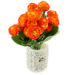Lule artificiale Kryesore Dekor, Mëndafsh, Shape Tjera, portokall, 330x170mm, 10PC/Qese,  Qese