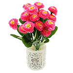 Lule artificiale Kryesore Dekor, Mëndafsh, Shape Tjera, rozë, 330x170mm, 10PC/Qese,  Qese
