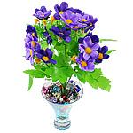 Lule artificiale Kryesore Dekor, Mëndafsh, Shape Tjera, vjollcë, 290x240mm, 10PC/Qese,  Qese