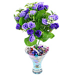 Lule artificiale Kryesore Dekor, Mëndafsh, Shape Tjera, vjollcë, 290x180mm, 10PC/Qese,  Qese