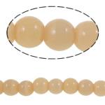 Cats Eye Perlen Schmuck, Katzenauge, rund, aprikosengelb, 6mm, Bohrung:ca. 0.8mm, Länge:ca. 14.1 ZollInch, 10SträngeStrang/Tasche, ca. 59PCs/Strang, verkauft von Tasche