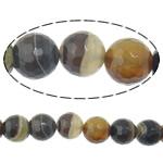 Agat Beads, dantella agat, Round, shirit, 10mm, : 2mm, :15Inç, 5Fillesat/Shumë,  Shumë